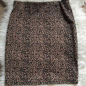 Skirt stretch leopard